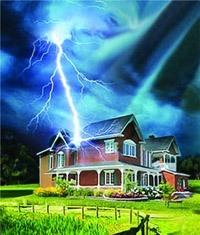 Молниезащита зданий, молниеприемник г.Тюмень