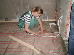 Монтаж электрического теплого пола в Тюмени. электрический теплый пол