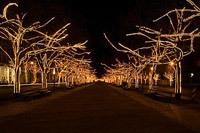 Подключение освещения зданий в Тюмени